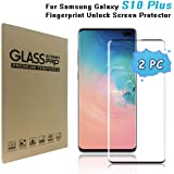 Galaxy S10 Plus Screen Protector, [9H Hardness][Anti-Fingerprint][Ultra-Clear][Bubble Free] Tempered Glass Screen…