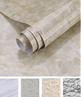 24 x 393 Yenhome Large Size Jazz White Marble Contact Paper for Countertops Self Adhesive Wallpaper for Kitchen Cabinets Shelf Liner Waterproof Bathroom Decor Wallpaper Stick and Peel