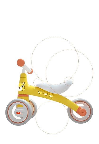 Bebé paseo en bicicleta deslizante en motos de juguete bicicleta niños sin pedal tres ruedas ...