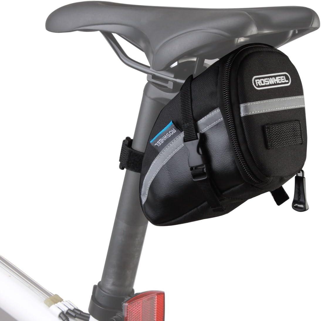 Lixada Bolsa Negra de Sillín de Bicicleta 15x8x9cm para Bicicletas de Montaña de Carrera Teléfonos (Estilo 1)