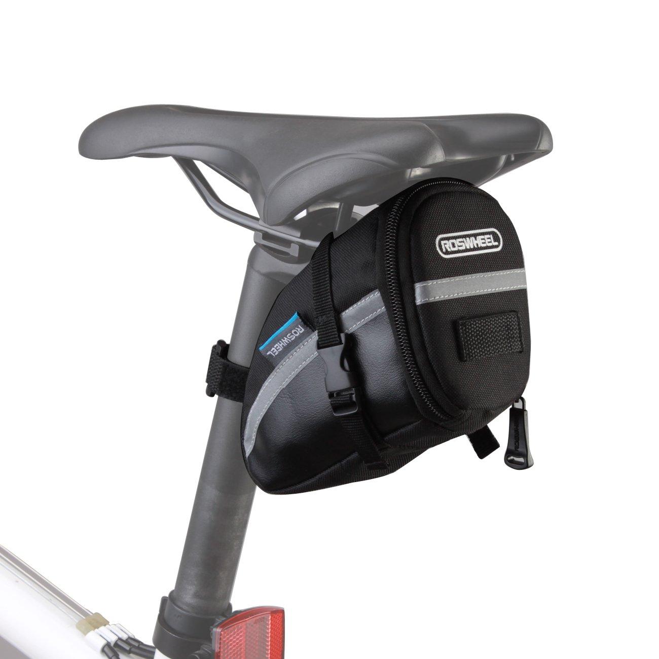 Roswheel Bolsa de sillín de bici bicicleta 15x8x9cm para bicicletas de montaña de carrera teléfonos negro: Amazon.es: Deportes y aire libre