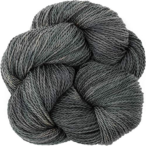 Merino Fingering Weight - Living Dreams Yarn EcoLana. CERTIFIED ORGANIC MERINO. Cruelty Free & Responsibly Sourced. Hand Dyed in the USA. Fossil
