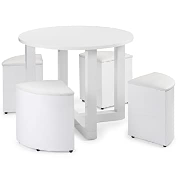 Fine Right Deals Uk Dining Set Stowaway 4 Seats Charisma White Home Interior And Landscaping Ologienasavecom