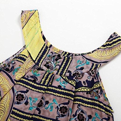 Sannysis Baby Mädchen Kleider, Sommer Nettes Baby Kinder Mädchen Kleid Nationaler Druck Ärmelloses Kleid Prinzessin Party Blumendruck Tutu Kleid Gelb