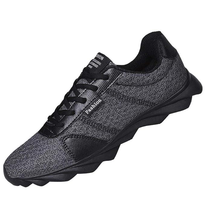 JiaMeng Zapatillas de Correr Hombre Casual Cómodas Calzado Deportivo Zapatos de Deporte de Moda Beathable Casual Mesh Shoes con Cordones Zapatos para ...