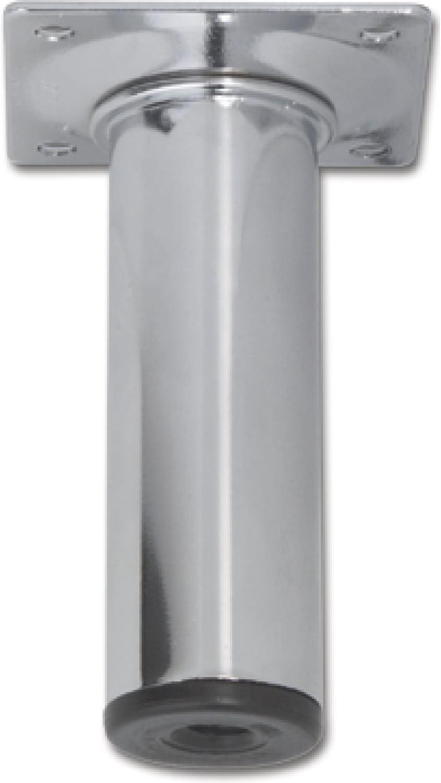 L/änge 150 mm Stahl silber RAL 9006 Element System 11100-00014 M/öbelfu/ß Rundrohr /ø 30 mm