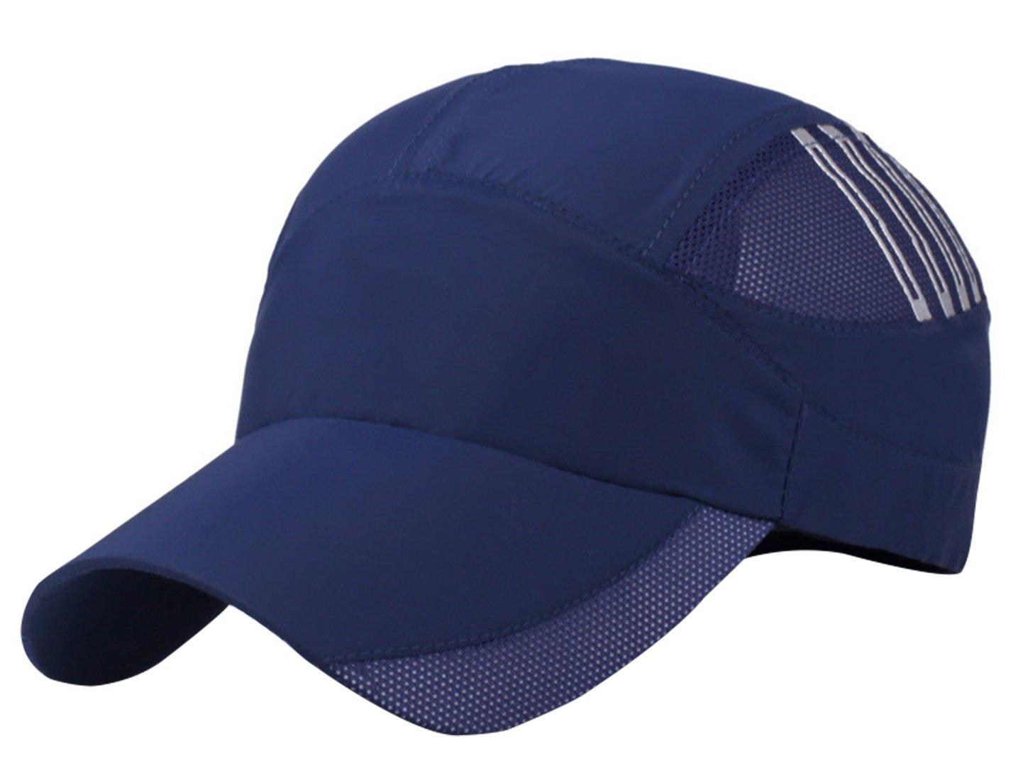Aivtalk Running Sports Cap Unisex Summer Quick Dry Mesh Outdoor Sun Hat Performance Lightweight Breathable Soft Dark Blue