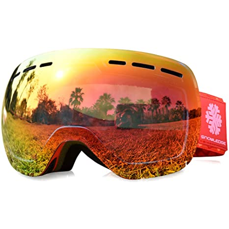 75b43948ae65 Snowledge Ski Goggles-Snowboard Ski Goggles Skiing Goggles with Anti ...