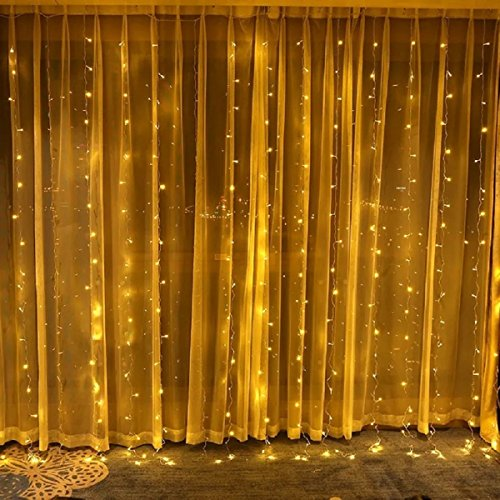 LED Window Curtain String Lights with UL Listed, Landscape Lights for Wedding Party and Bedroom, Waterproof and Antifreezing Outdoor Indoor Decorations Wall Lights (Long Strip 308 LEDs)
