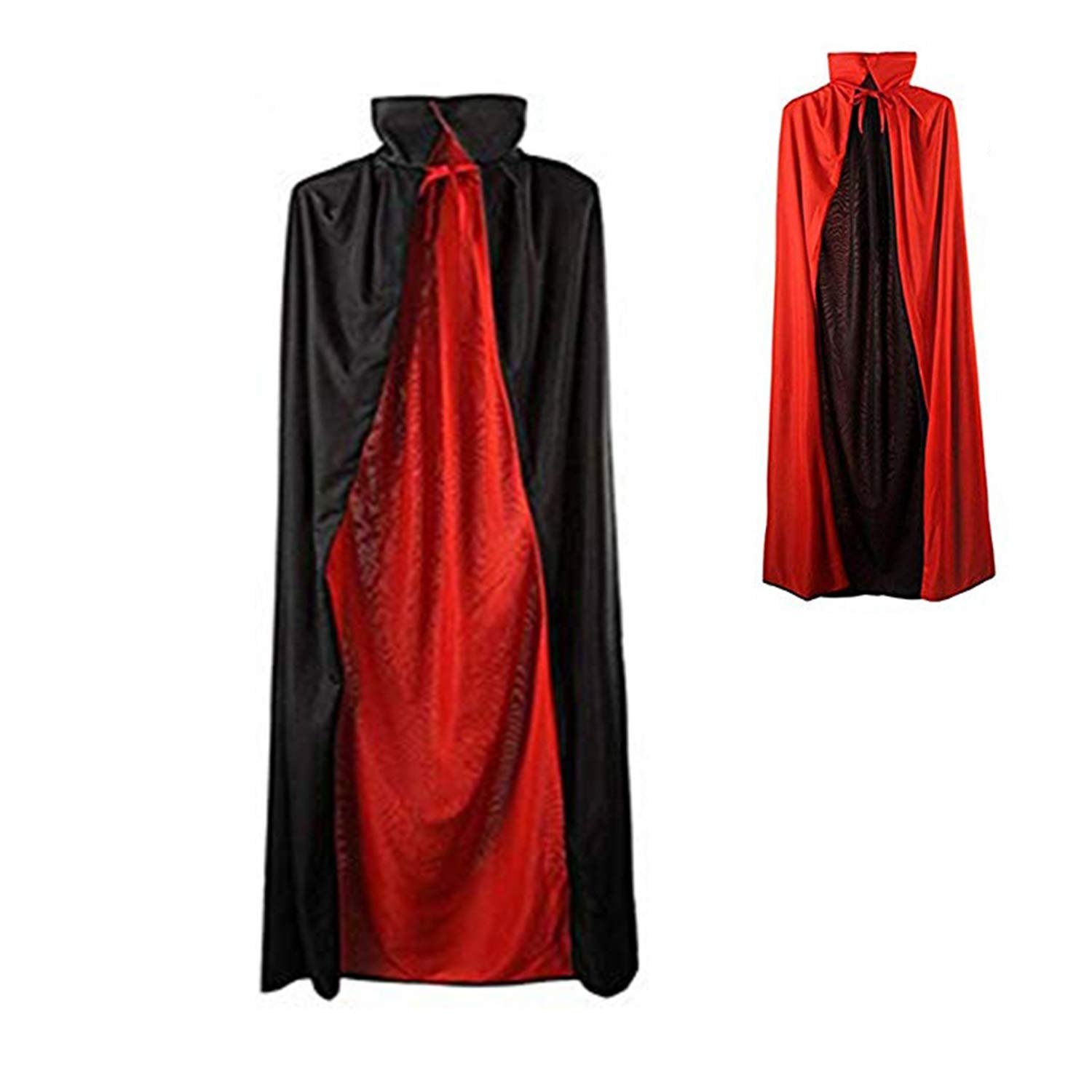 New Reversible Black /& Red Cape Size Adults