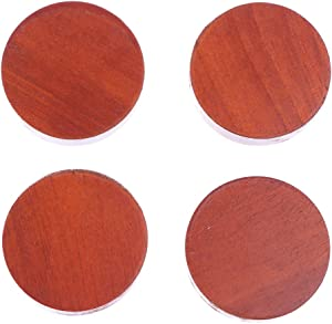 TBoxBo 4Pcs/Set Premium Solid Wood Lift Furniture Risers Bed Risers Furniture Cups Non-Slip Mat Home Improvement for Chair Bed Table Couches Sofas Furniture Risers(Small)