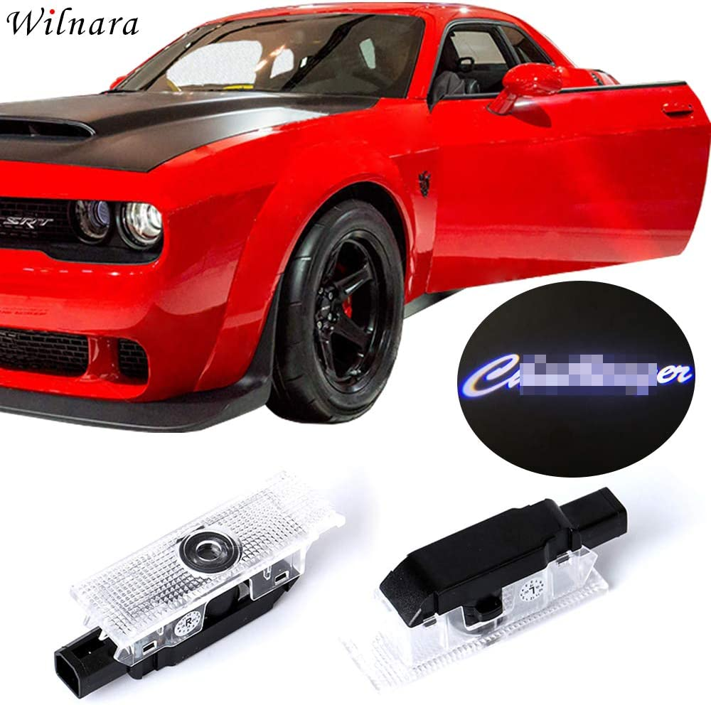 Dodge Challenger Projector Ghost Shadow Courtesy Light Welcome Light for Dodge Challenger Scat Pack RT SRT SXT GT SE-No15