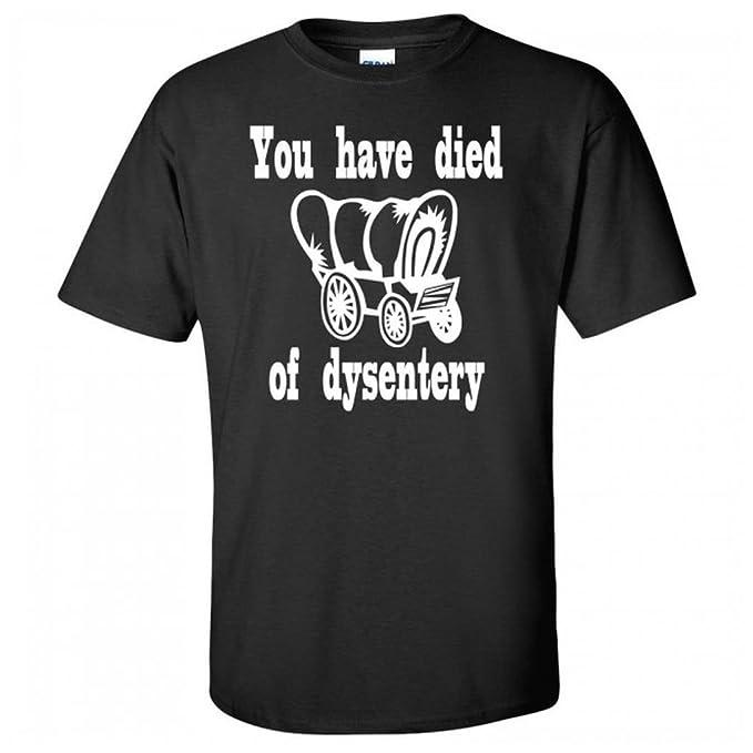 plus récent ef7de 60d74 Amazon.com: You Have Died of Dysentery Oregon Trail Youth T ...