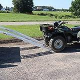 Titan Ramps 7.5ft Aluminum Ramp ATV Lawn Mower Snow Blower Loading, Bonus Safety Straps 1500 lb Capacity