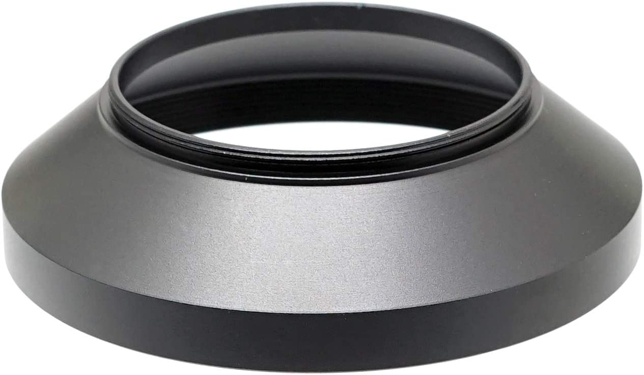 LV46 46mm Screw-in Lens Hood 46mm Metal Hood 46mm Lens Hood for Fuji Leica Leitz Panasonic Olympus Panasonic Sony Lens Fotasy Metal 46mm Vented Lens Hood