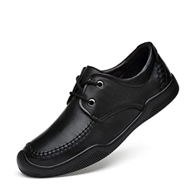 Shoes Mens Casual Deck Shoes Low-Top Sneakers Fashion Lace-up Shoes Comfort Driving Shoes Leather (Color : B Size : 41)