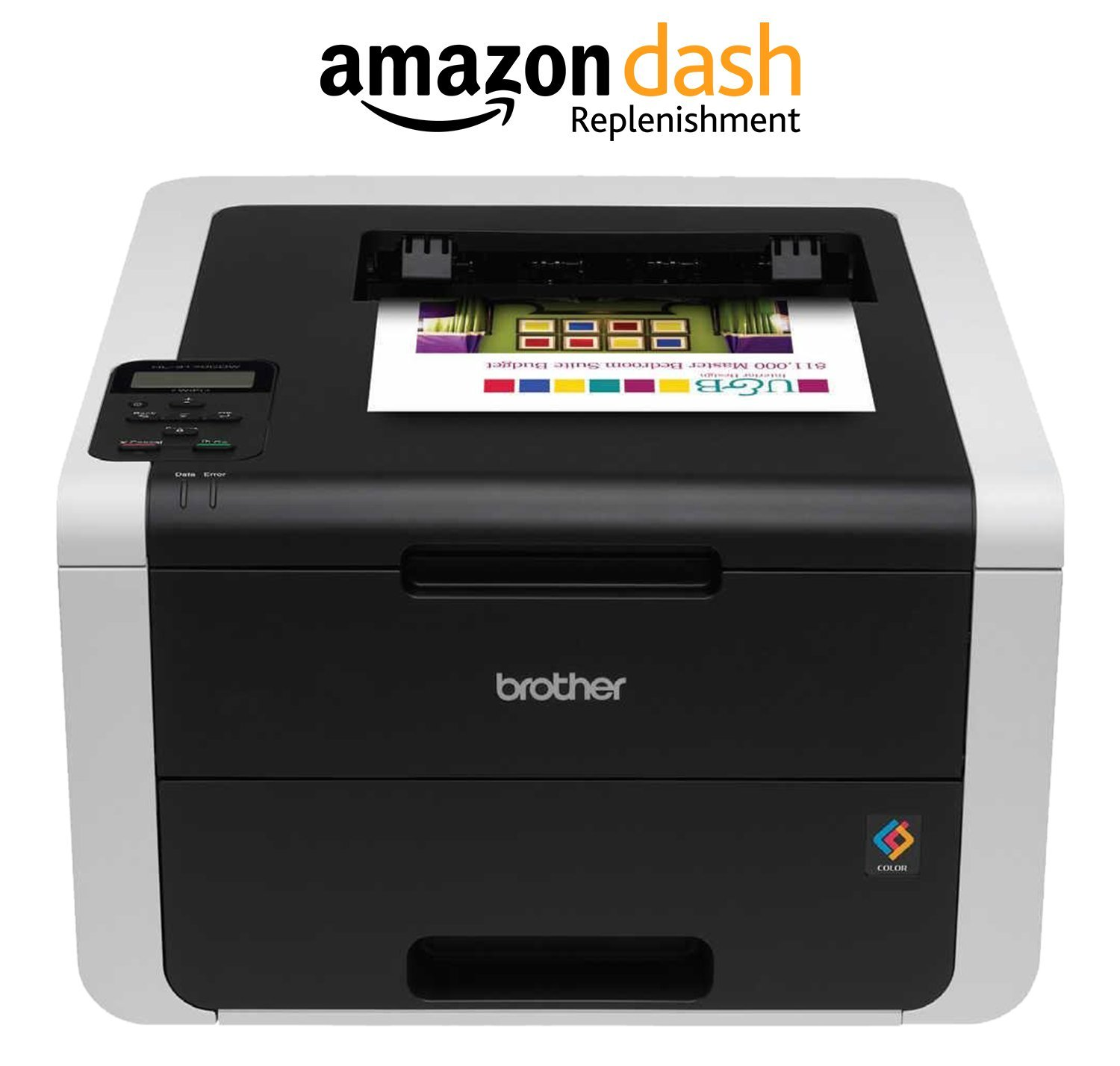 amazoncom brother hl 3170cdw digital color printer with wireless networking and duplex amazon dash replenishment enabled office products
