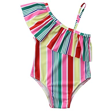 Toddler Kids Baby Girls Colorful Bikinis Beachwear Beach Swimsuits Bathing Suits