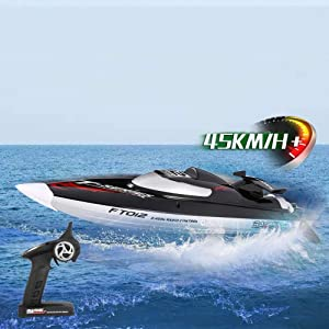 2.4G Brushless Speedboat 45km/h High Speed RC Racing Boat Ship Water Cooling Self-righting System RC Boat Model Toy Hobby