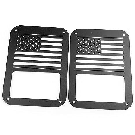 Plastic Light Covers >> 2pcs American Flag Jeep Tail Light Covers Ada Plastic Protection Cj Yj Tj Jk Black