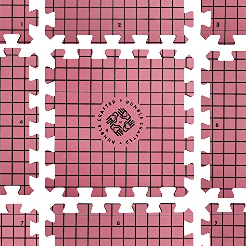 Blocking Mats for Knitting | Extra Thick - with Grids Guaranteed to Align - Includes 100 Stainless Steel T-Pins and 60-Inch Measure Tape... by Humble Crafter (Image #2)