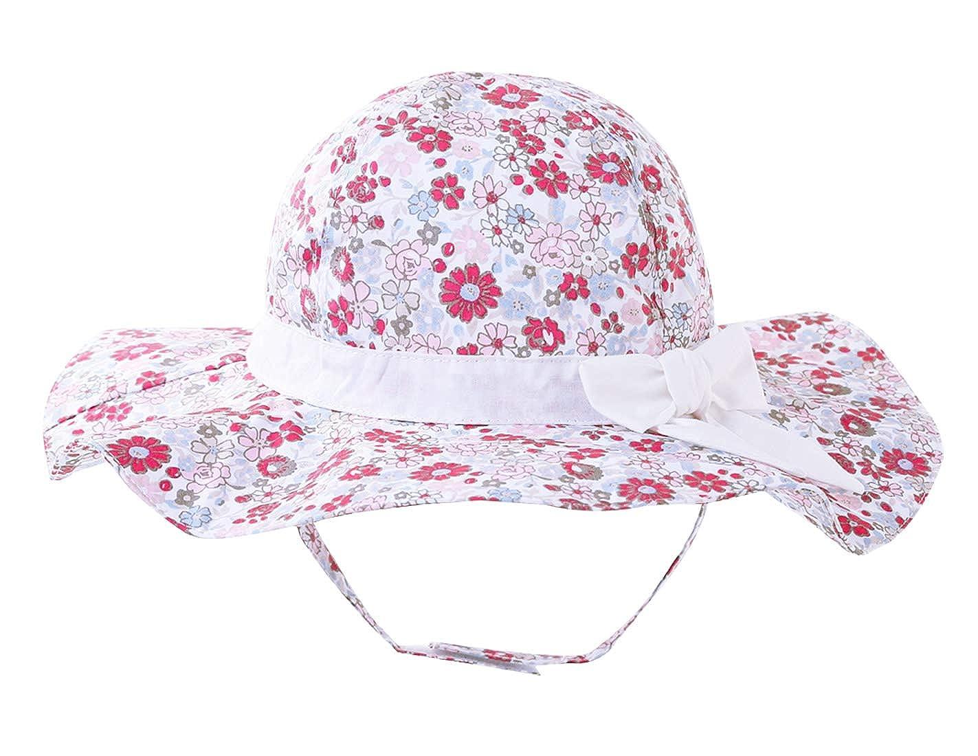 Happy Cherry Chapeau Large Bord B/éb/é Fille Gar/çon Chapeau de Soleil Anti-UV Casquette Panama Plage Camping Vacances pour 3 Mois-6 Ans