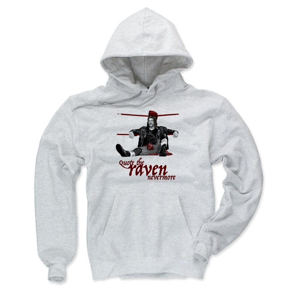 Raven Men's Hoodie - XXX-Large Ash - Old School WWF Wrestling Apparel - Ravens Corner R