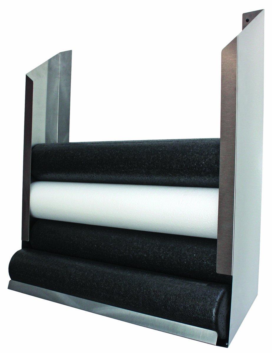 CanDo 30-2180 Foam Roller, Accessory, Wall-Mount Storage Rack, 36'' Width x 10'' Diameter x 40'' Height by Cando