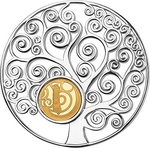 2018 BB Modern Commemorative PowerCoin TREE OF LIFE Gustav Klimt Pendant Gold Coin 10$ Barbados 2018 -