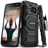 Evocel HTC 10 [New Generation] Rugged Holster Dual Layer Case [Kickstand][Belt Swivel Clip] For HTC 10 / HTC One M10 (2016 Release), Black (EVO-HTCM10-XX01)