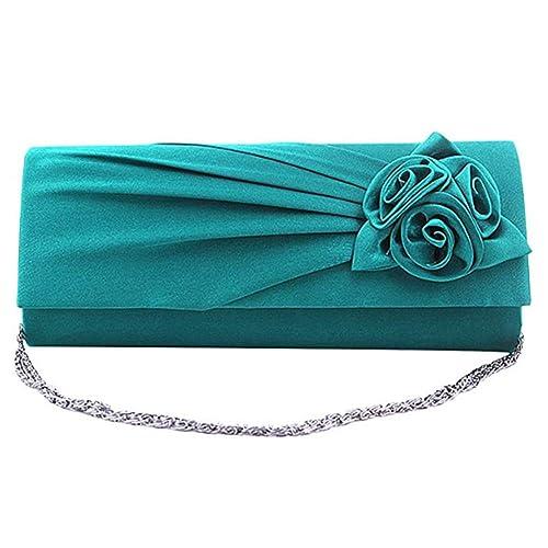Bolso de embrague nupcial boda de la tarde del bolso señoras de la flor de Rose