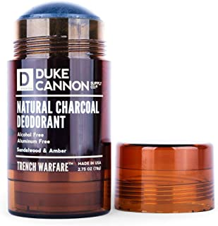product image for Duke Cannon Supply Co. - Trench Warfare Charcoal Deodorant, Sandalwood & Amber (2.75 oz) Alcohol and Aluminum Free, Long-Lasting Solid Deodorants for Odor Protection - Sandalwood & Amber