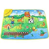 Baby Zoo Animal Musical Touch Play Singing Carpet Mat Toy Music Carpet Toys Kakiyi