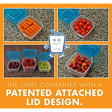 Mr Lid 10-piece Storage Containers Set with Attached Lids