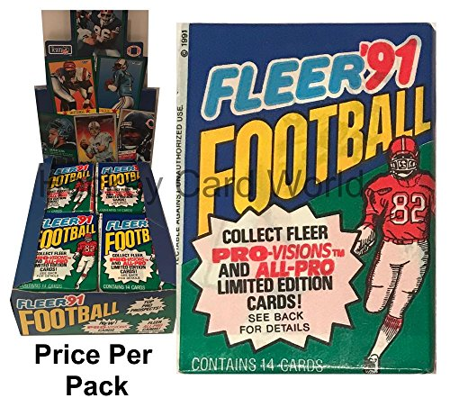 1991 NFL Fleer Football Trading Cards Sealed PACK - 14 Cards Per Pack