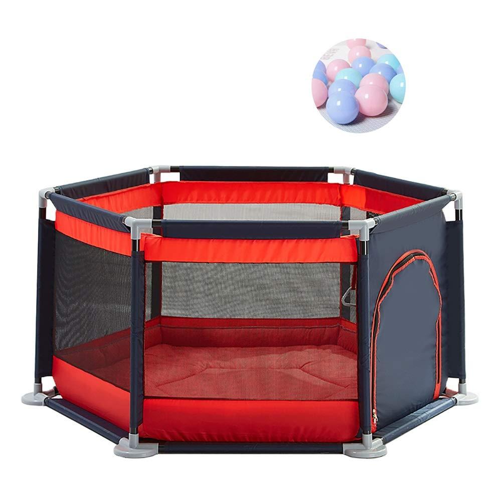 ベビーフェンス プレーン6パネルボール/クロールマットプレーヤードポータブルベビーゲームフェンス幼児アクティビティセンター、65 Cm高い (色 : Style 2)  Style 2 B07J1JPXD8