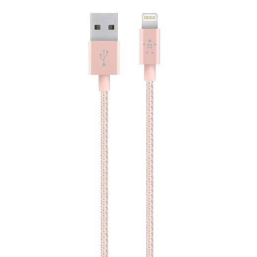 25 opinioni per Belkin- Cavo Metallico da Lightning a USB per iPhone, iPad, iPod- 1.2 m- Oro