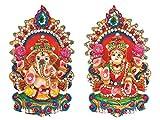 Ramya's Artistic Clay Idols of Hindu Goddess Lakshmi & Lord Ganesha (7031)