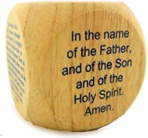 CB My Favorite Catholic Prayers Wooden Cube, 2 1/4 Inch