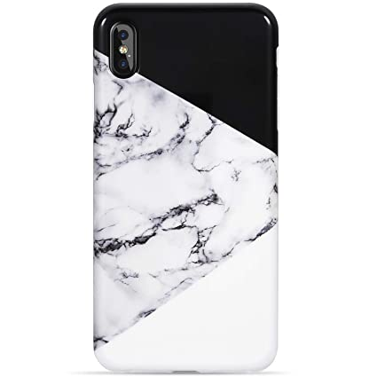 560f6f2bc835a VIVIBIN iPhone Xs Max Case,Fashionable iPhone Xs Max Silicon Case Marble  Black and White Design for Women Girls Men,Slim Fit Protective Phone Case  for ...