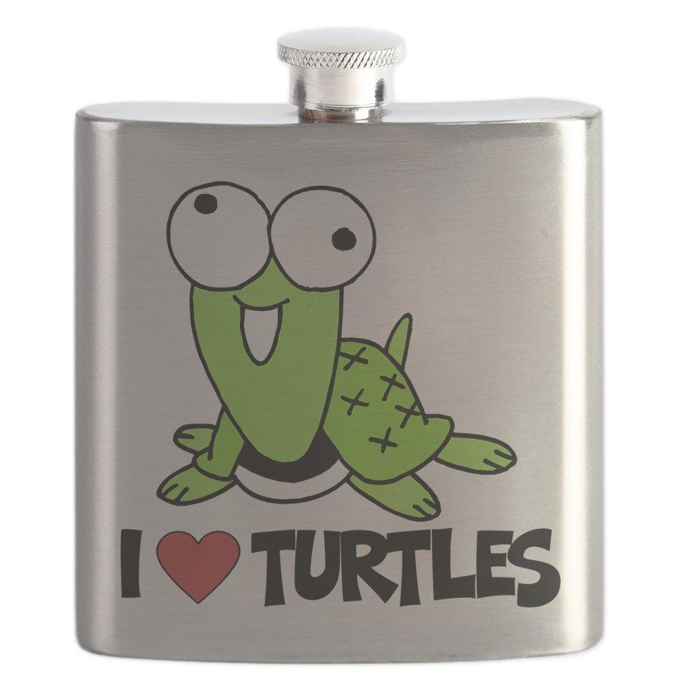 期間限定特別価格 CafePress – – I Love Turtles B01IUF5Q9Q – ステンレススチールフラスコ、6オンスDrinkingフラスコ – B01IUF5Q9Q, 大東町:10e5a3de --- a0267596.xsph.ru
