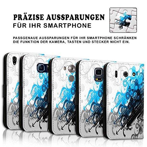 Wallet Book Style Flip Handy Tasche Case Schutz Hülle Schale Motiv Etui für Apple iPhone 6 / 6S - Design Flip MVD311