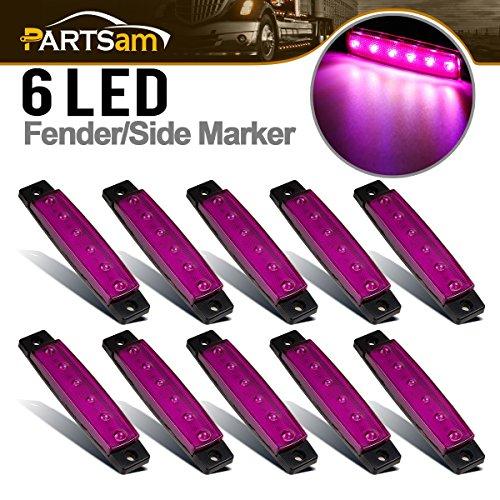 Purple Led Side Marker Light - Partsam 10x 3.8