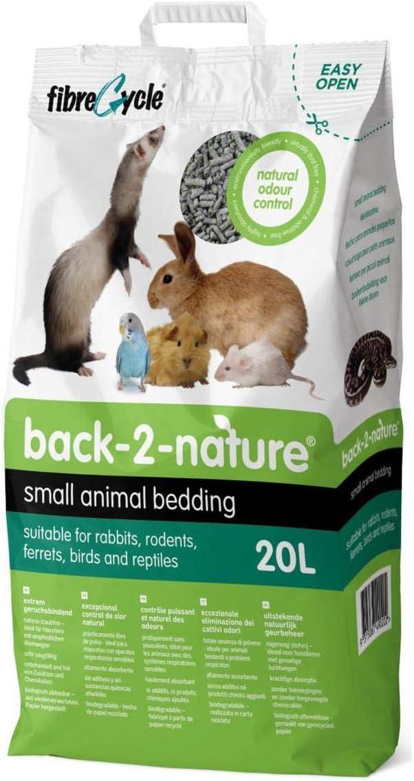 FibreCycle Lecho Papel Higienico Ecologico – Pellets Para Cobayas Conejos Hurones Reptiles Pájaros 20000 ml