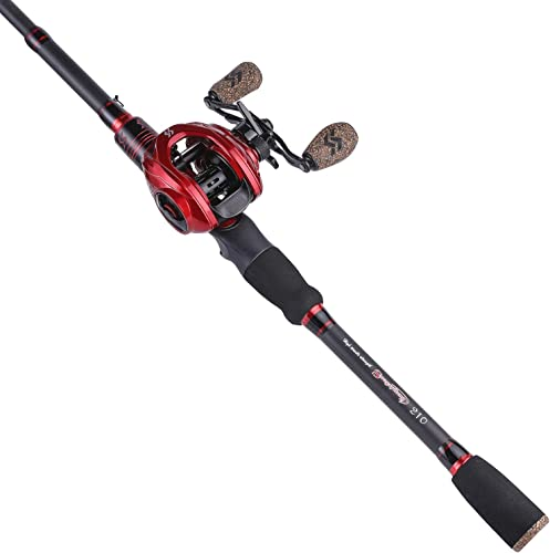 Sougayilang Baitcaster Combo Telescopic Fishing Rod and Reel Combo, Ultra Light Baitcasting Fishing Reel for Travel Saltwater Freshwater for Beginner 5.9FT 6.9FT