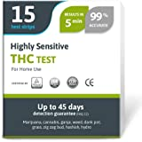 Exploro Highly Sensitive Marijuana THC Test Kit - Medically Approved Drug Test Strips for Detecting Any Form of THC in Urine