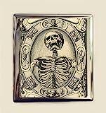 Memento Mori Cigarette Case Business Card ID Holder Wallet Skull Death Goth Dark Art Dying