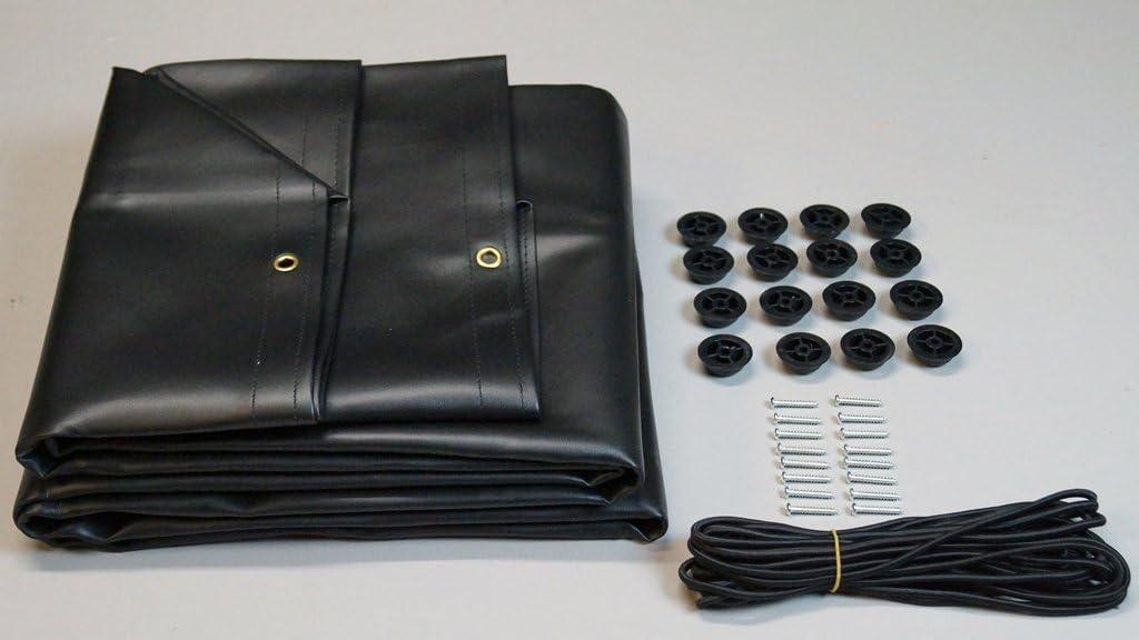 INNOV PRATIC Lona para Remolque Negro de 150 * 105 cm x 13 cm de Alto (entregada con Cuerdas elásticas, Ojales, Ganchos): Amazon.es: Coche y moto