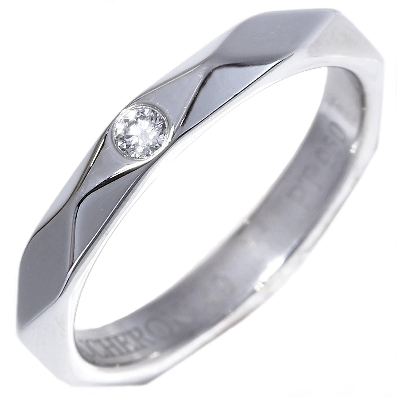[ブシュロン]Boucheron Pt950 ダイヤ1P ファセットリング 指輪 #49(9号) 中古 B07DCKRZSN