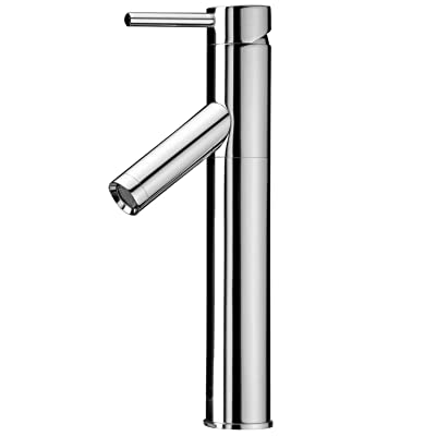 VIGO Dior Single Lever Vessel Bathroom Faucet, Chrome